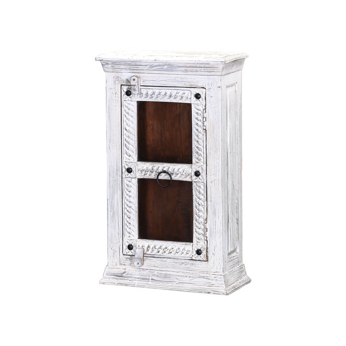 Winter White Tudor Reclaimed Wood Bathroom Wall Vanity Box
