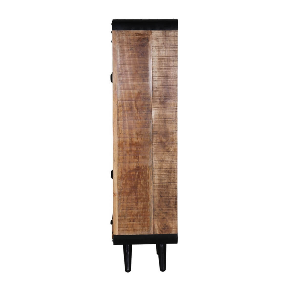 Retro Style Industrial Solid Wood Tall Narrow Armoire With ...