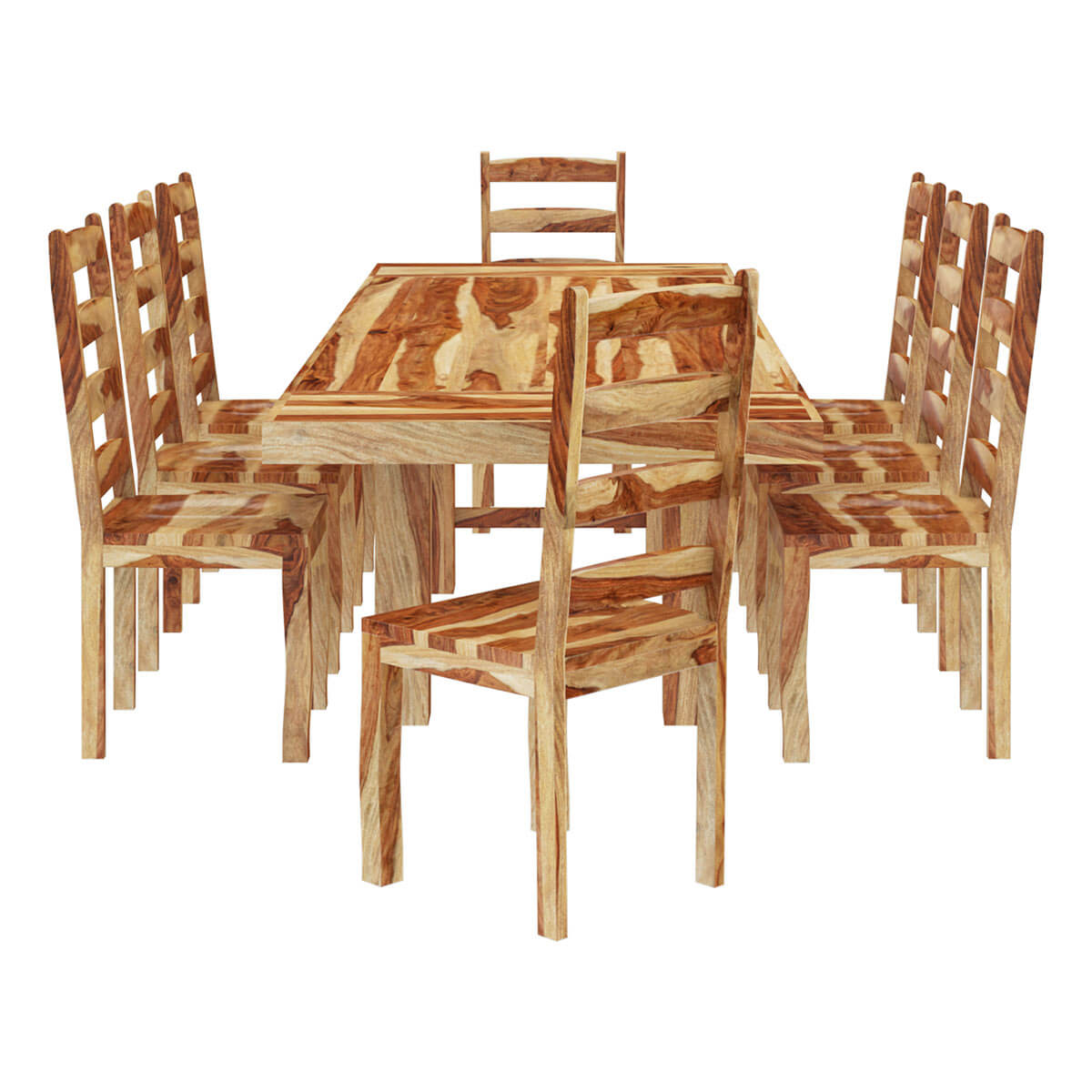 Rosewood Dining Room Set: Bluffton Classic Handcrafted Solid Rosewood 10 Piece