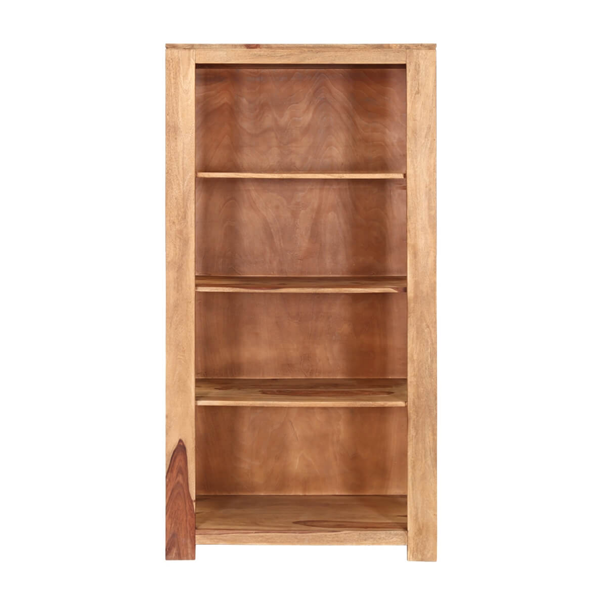 """Dallas 69"""" Natural Solid Wood Open Shelves Rustic Home"""