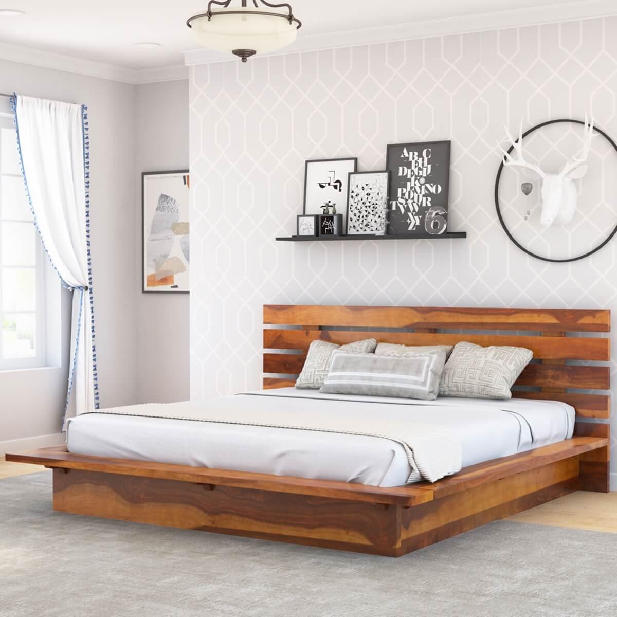 Flagstaff Solid Wood Full Size Platform Bed Frame