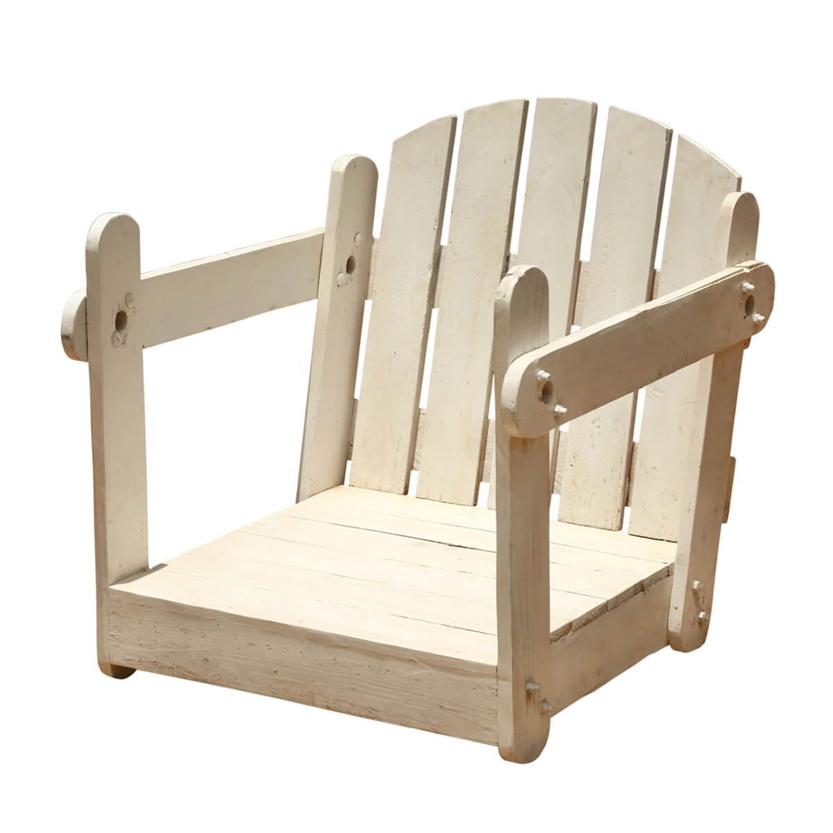 Japanese Style White Handmade Patio Chair w/out Legs