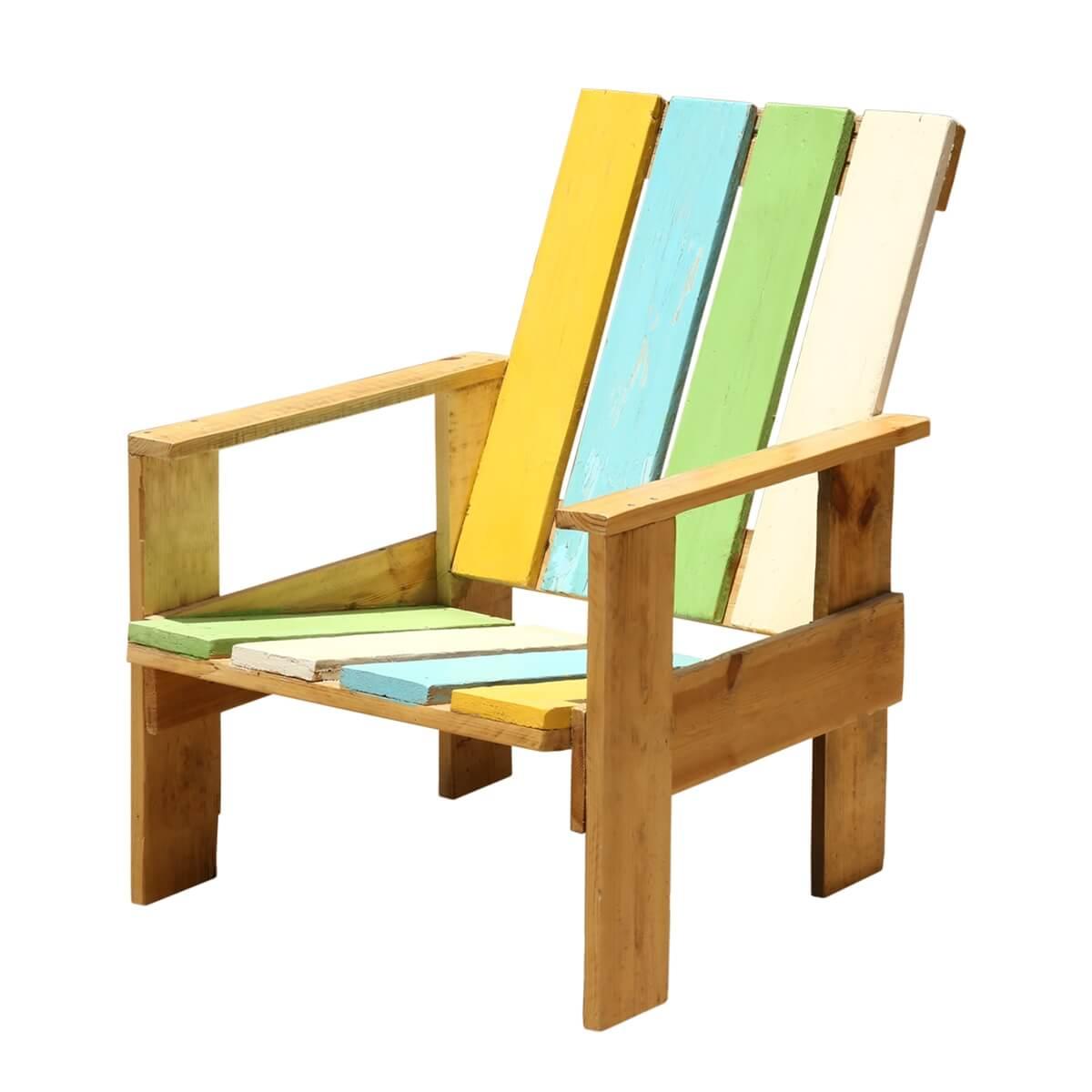 Enjoyable Summer Stripes Adirondack Handmade Patio Chair Download Free Architecture Designs Intelgarnamadebymaigaardcom