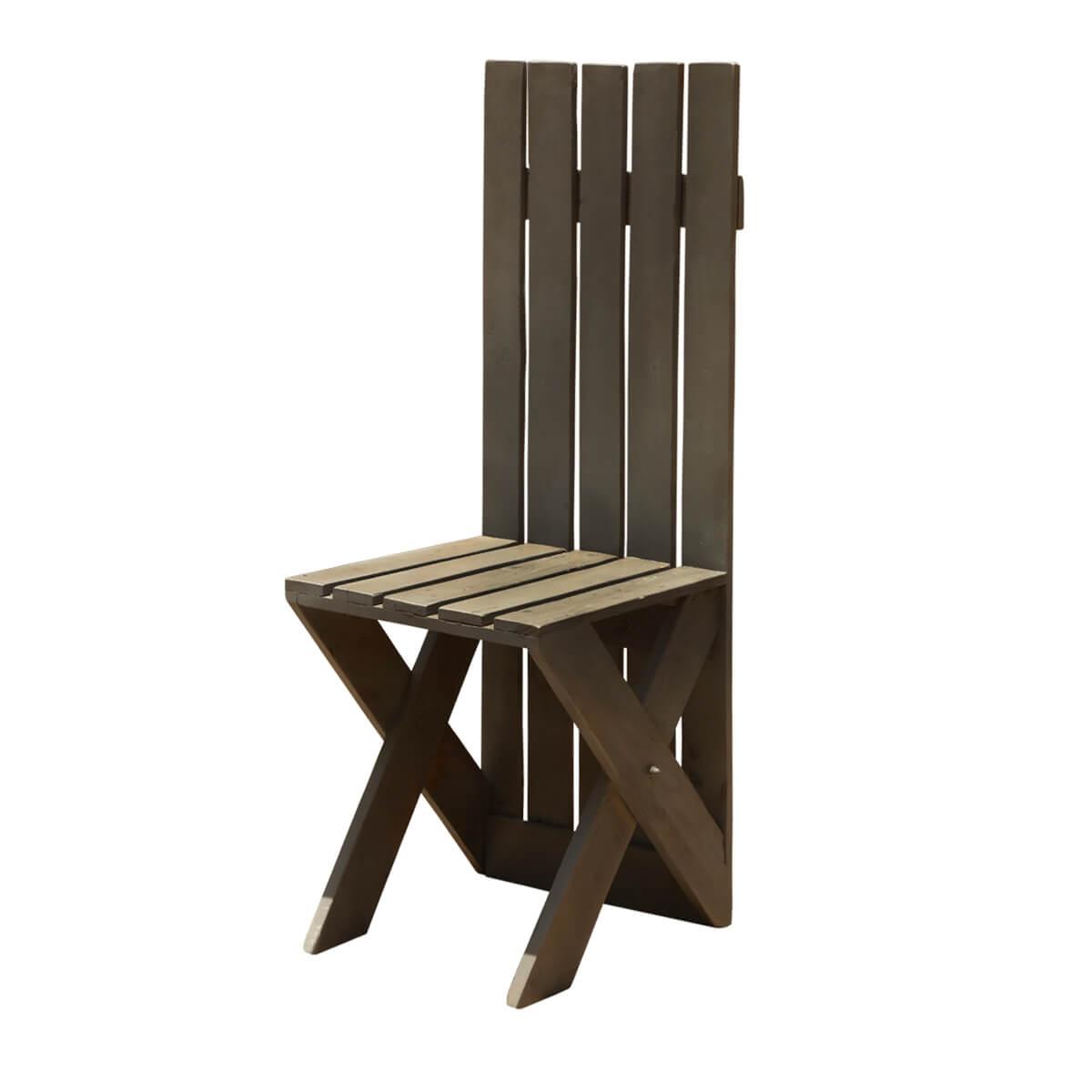 Magnificent Modern Pioneer Handmade Tall Back Patio Chair Download Free Architecture Designs Intelgarnamadebymaigaardcom