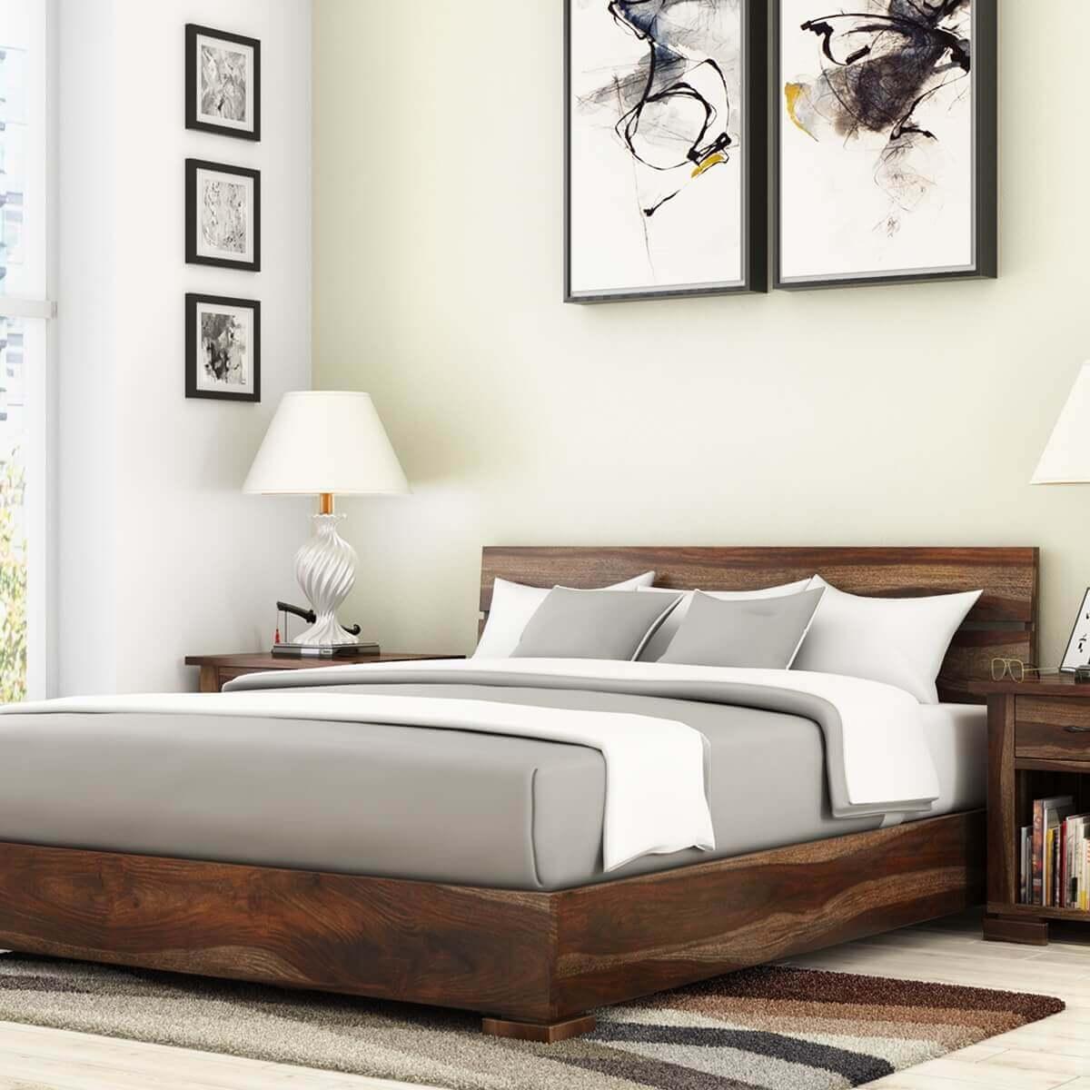Athena Handcrafted Solid Wood Platform Bed
