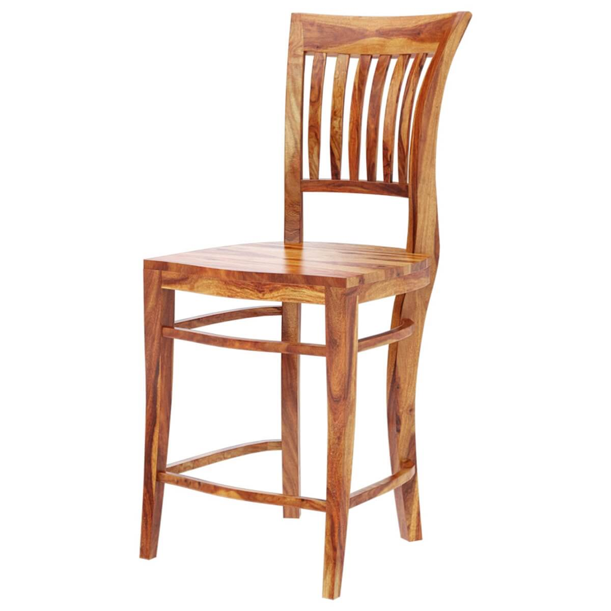 Santa Cruz Solid Wood Tall Back Dining Chair