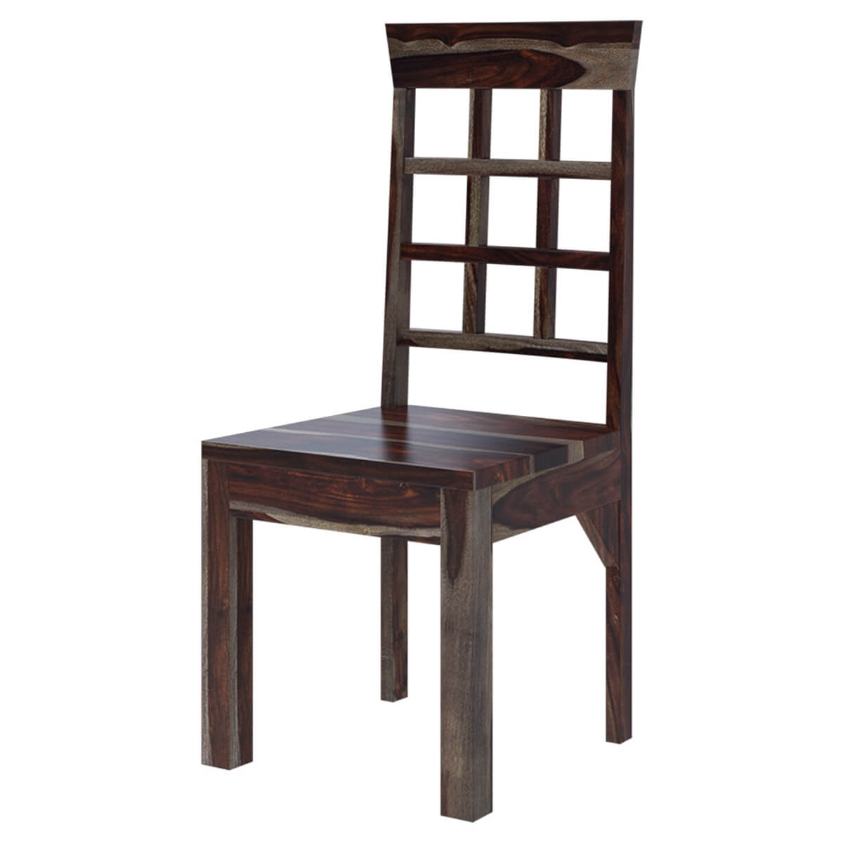 Portland Solid Wood Window Pane Back Dining Chair