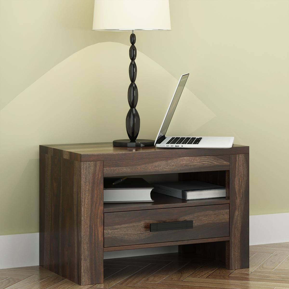 Roanoke Rustic Solid Wood One Drawer Nightstand
