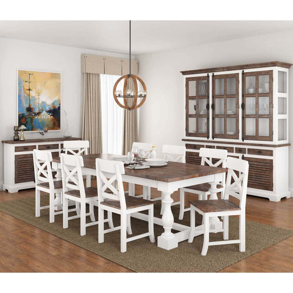 11 piece dining room set danville modern teak and solid wood 11 piece dining room set 2485