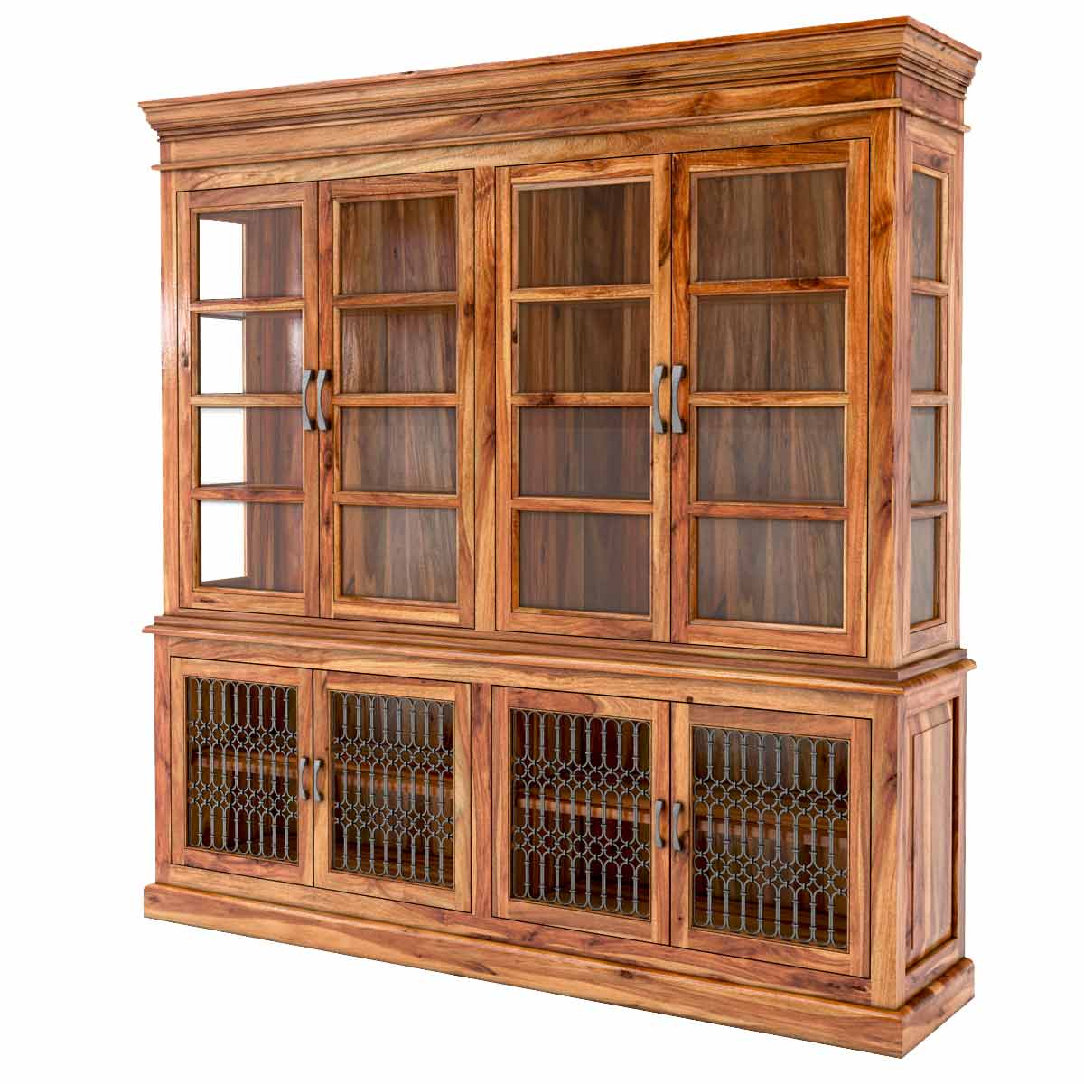San Francisco Rustic Solid Wood Dining Room Hutch