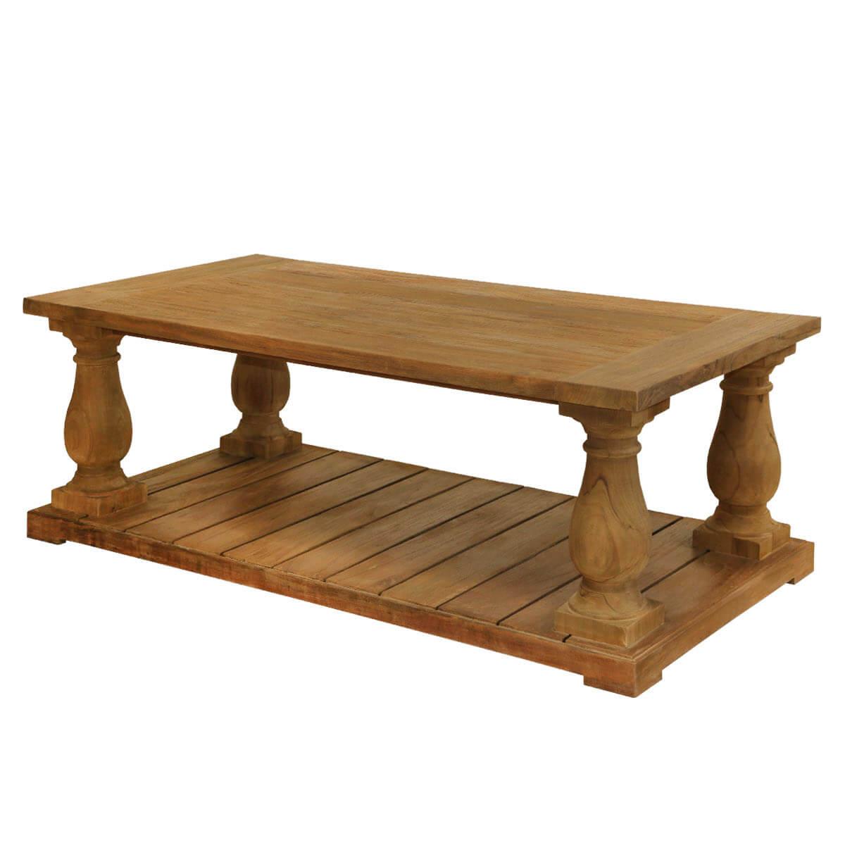 Reclaimed Teak Wood Balustrade Coffee Table