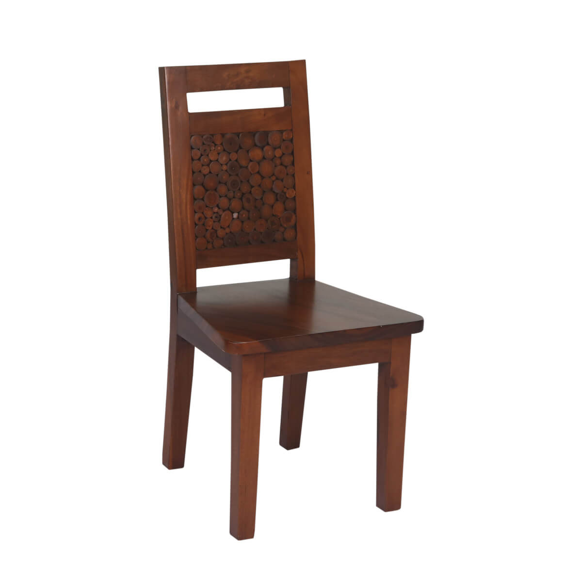 Parkerton Handcrafted Mahogany Wood Log Back Dining Chair (Set of 2)