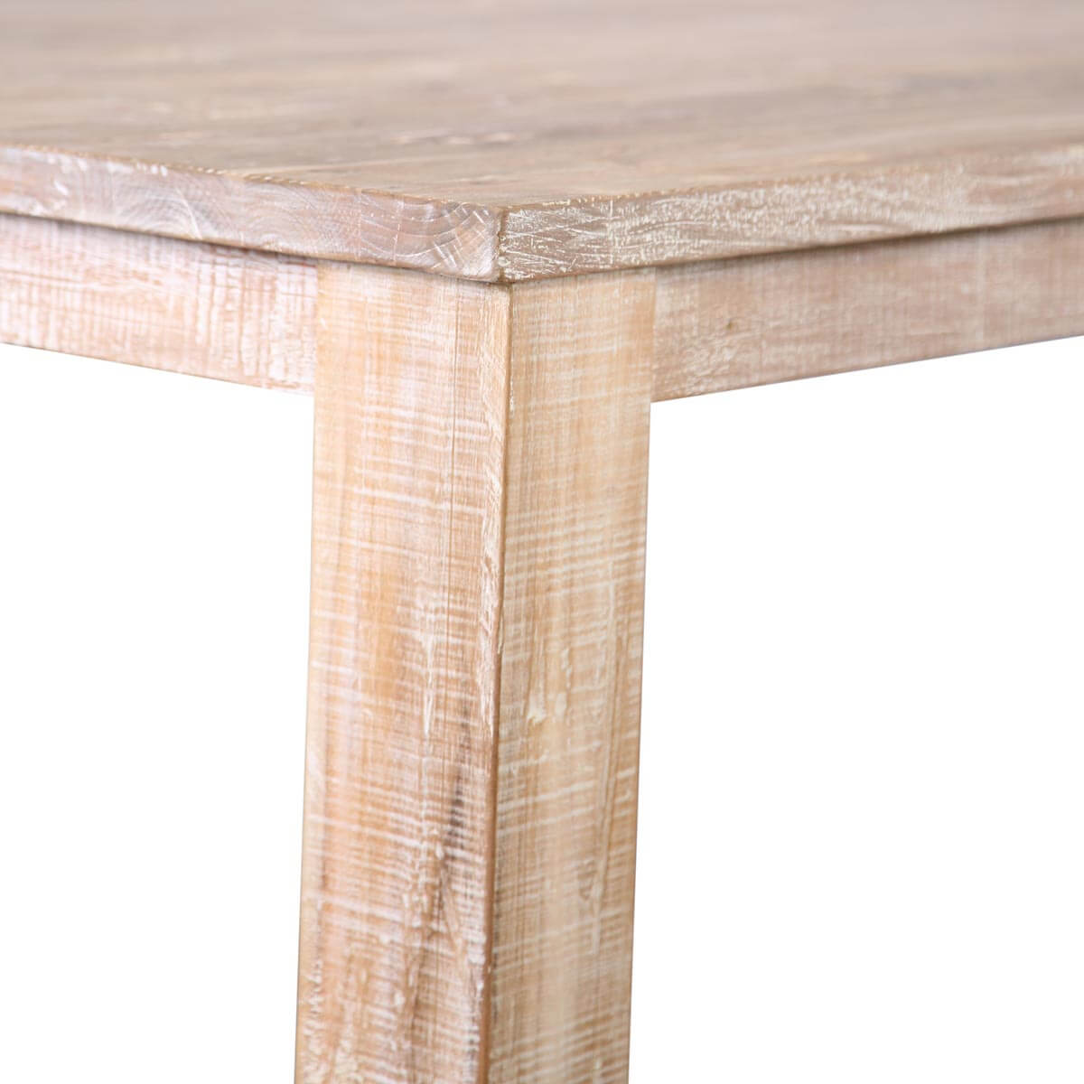 Durham Handcrafted White Wash Recycled Teak Wood Large