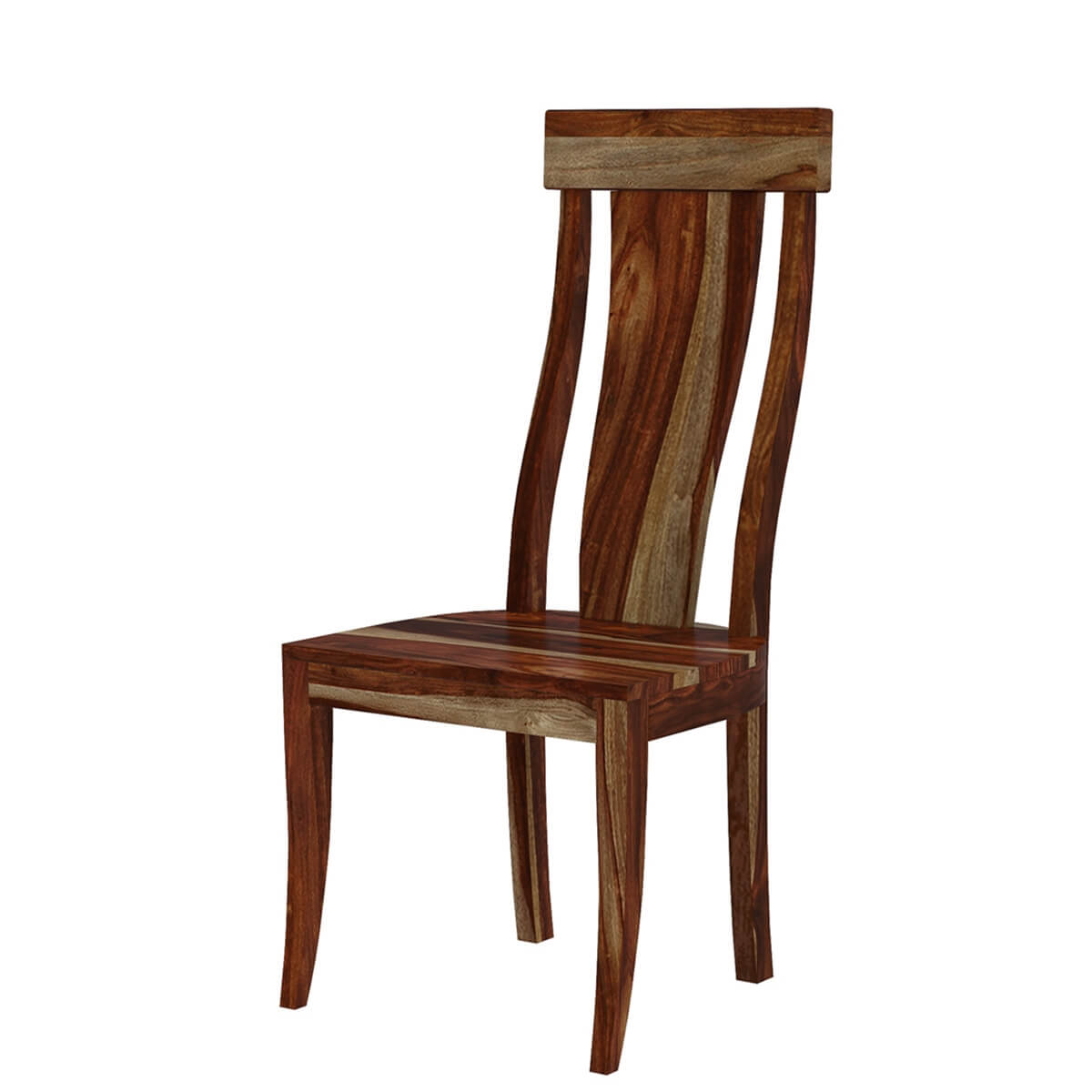 Solid Wood Dining Chairs: Bedford Handcrafted Single Slat Back Solid Wood Dining Chair