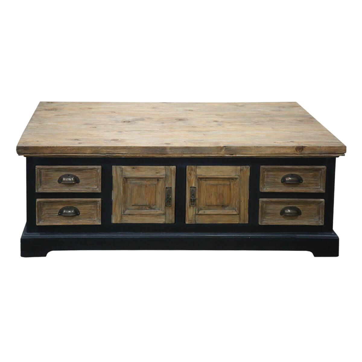 Wylie Teak and Mahogany Wood 8 Drawer Rectangular Storage ...