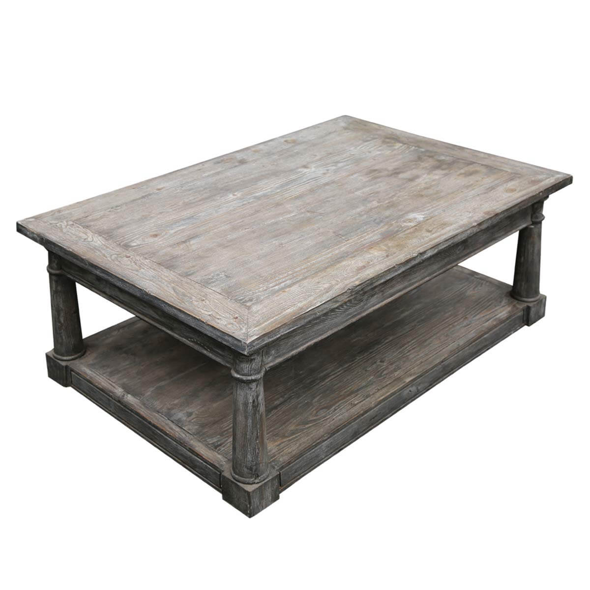 Shabby Chic Coffee Table Nz: Shabby Chic Rectangle Baluster Coffee Table Made Of Teak Wood