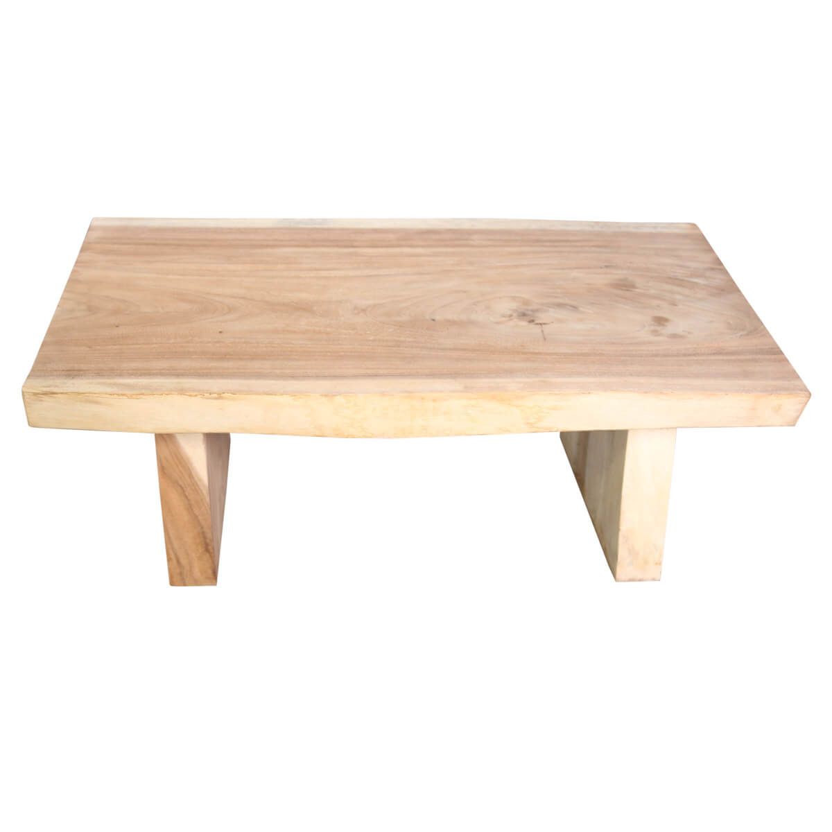 Silvis Natural Solid Wood Live Edge Coffee Table
