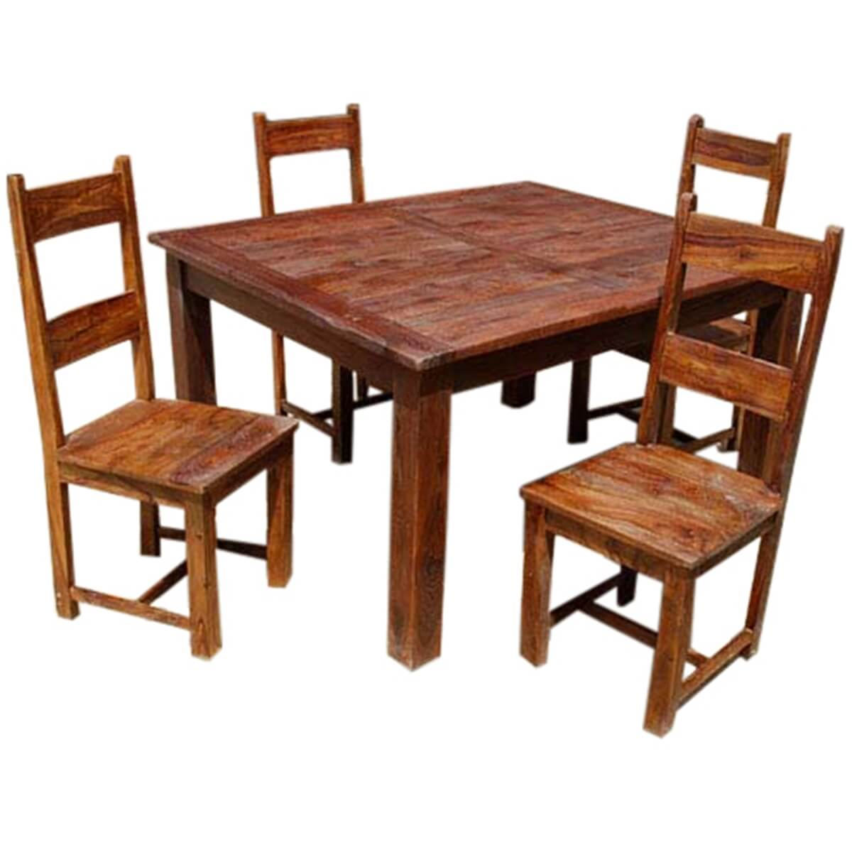 Rustic Wood Dining Room Table: Rustic Solid Wood Appalachian Dining Room Table & Chair Set
