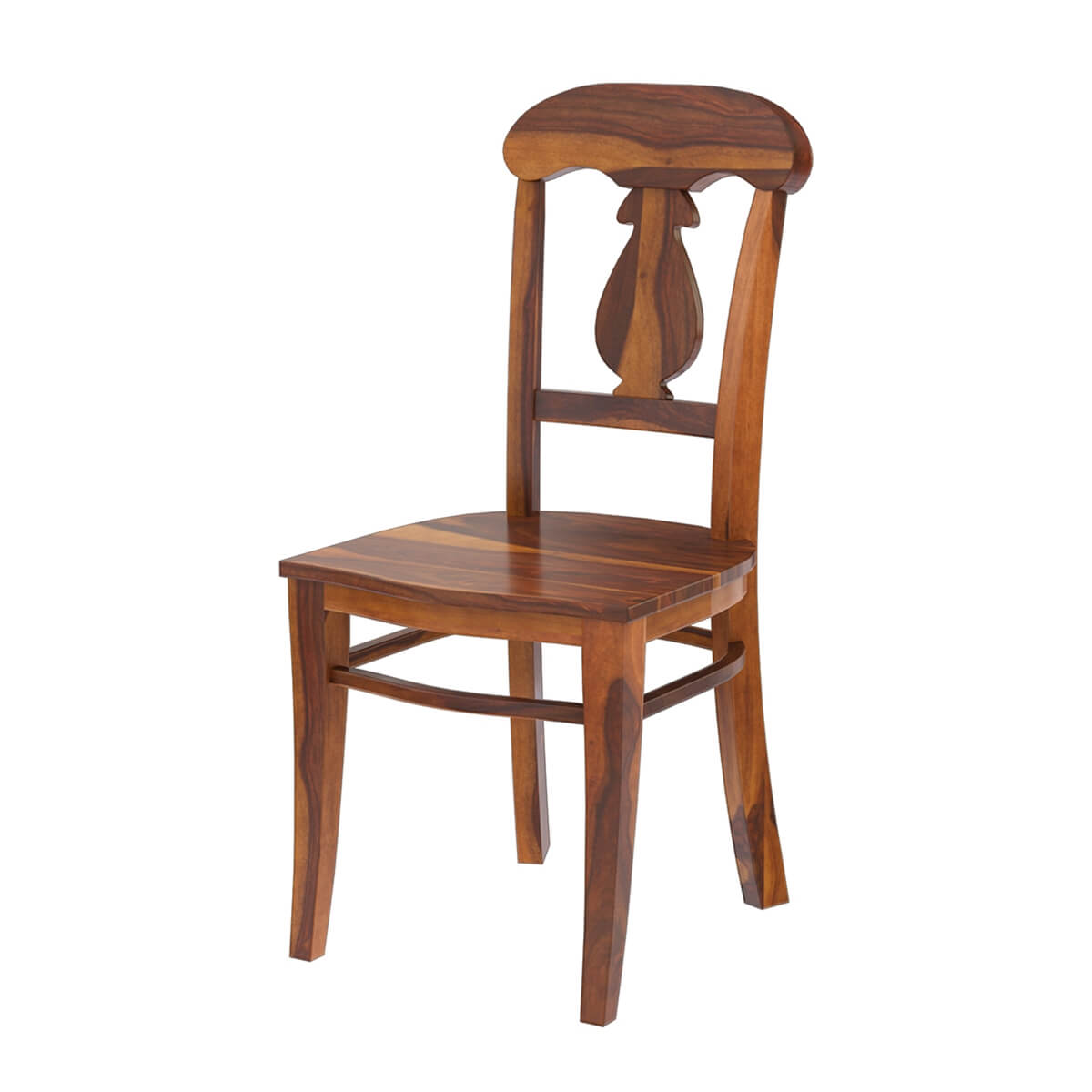 Tiraspol Traditional Rustic Solid Wood Dining Chair