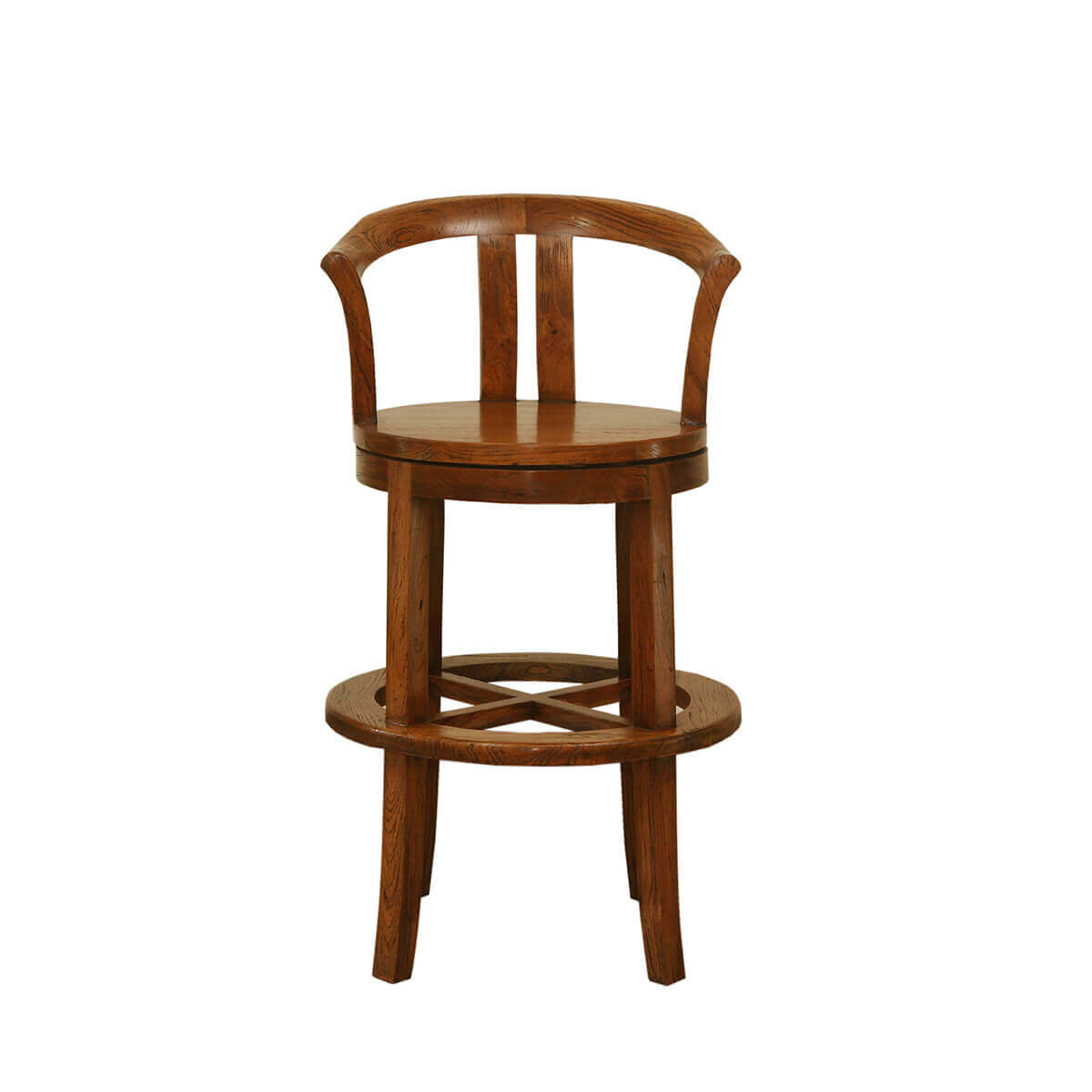 Bartow Vintage Style Teak Wood Bar Chair
