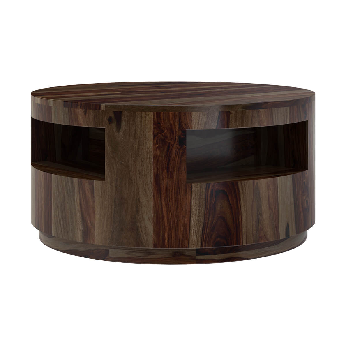 Round Coffee Table With Chairs.Ladonia Rustic Contemporary 3 Piece Round Coffee Table Set