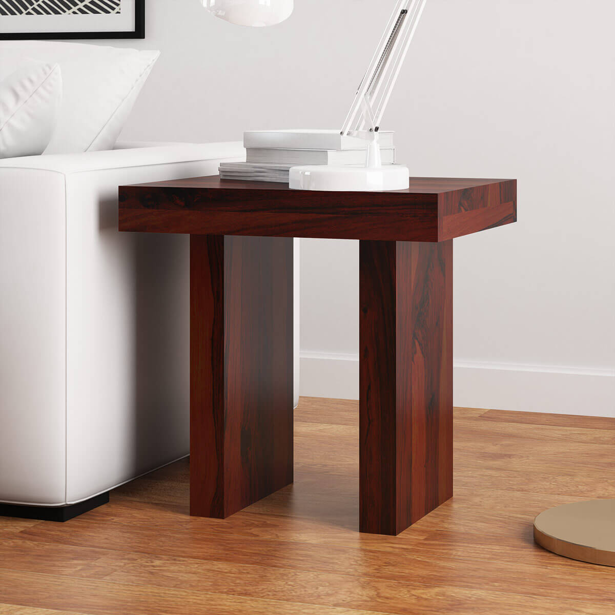 Jayton Contemporary Rustic Solid Wood End Table