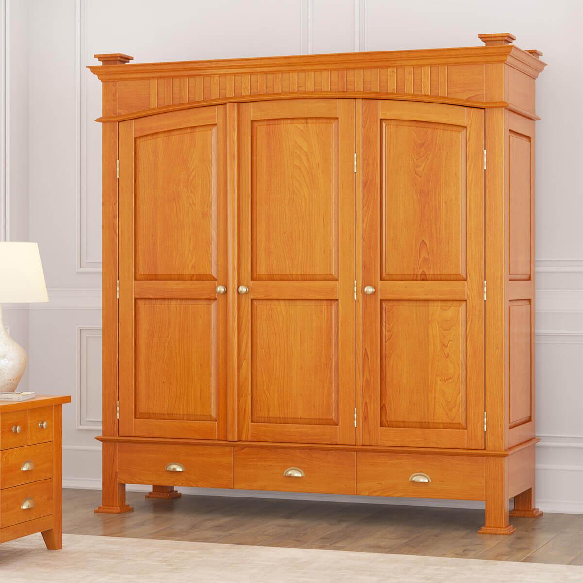 Longport Asian Style Mahogany Wood Large Armoire Wardrobe ...