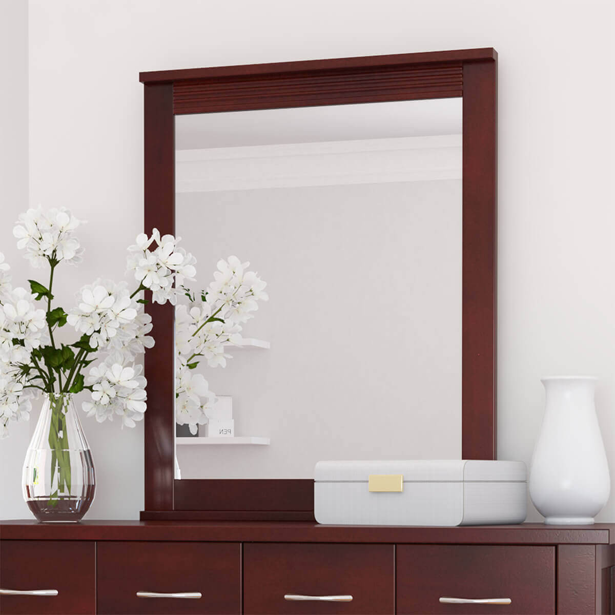 Amenia Solid Mahogany Wood Mirror Frame
