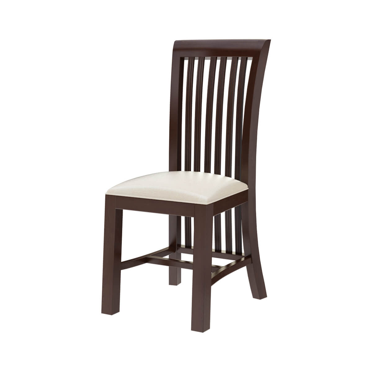 Tannersville Solid Mahogany Wood Upholstered Dining Chair