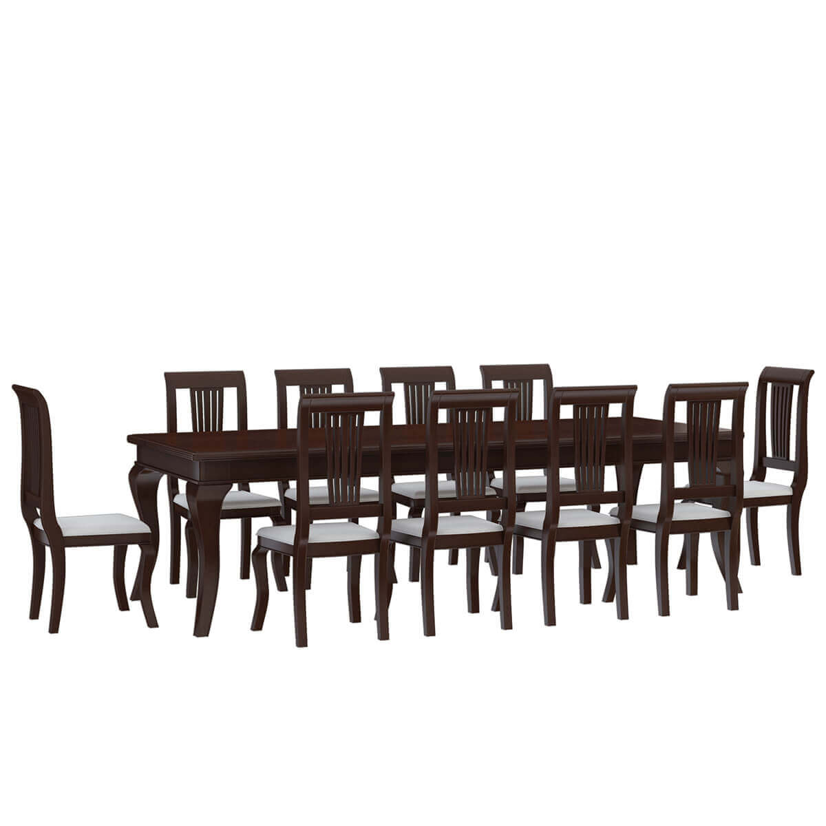 Cromberg Solid Mahogany Wood Dining Table and Chair Set