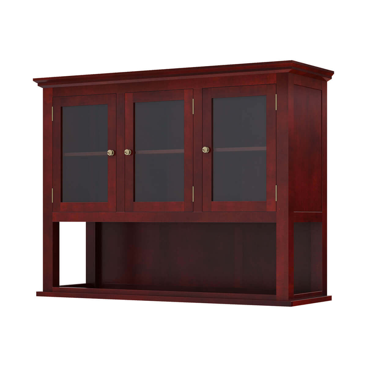 Barryton Solid Mahogany Wood Hutch Top