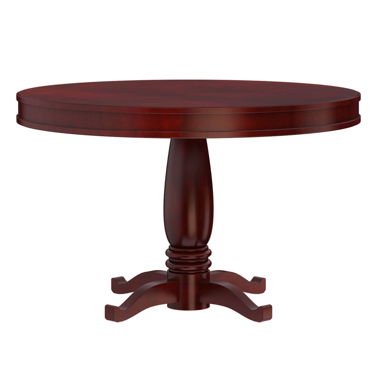 Garcia Solid Mahogany Wood Round Dining Table