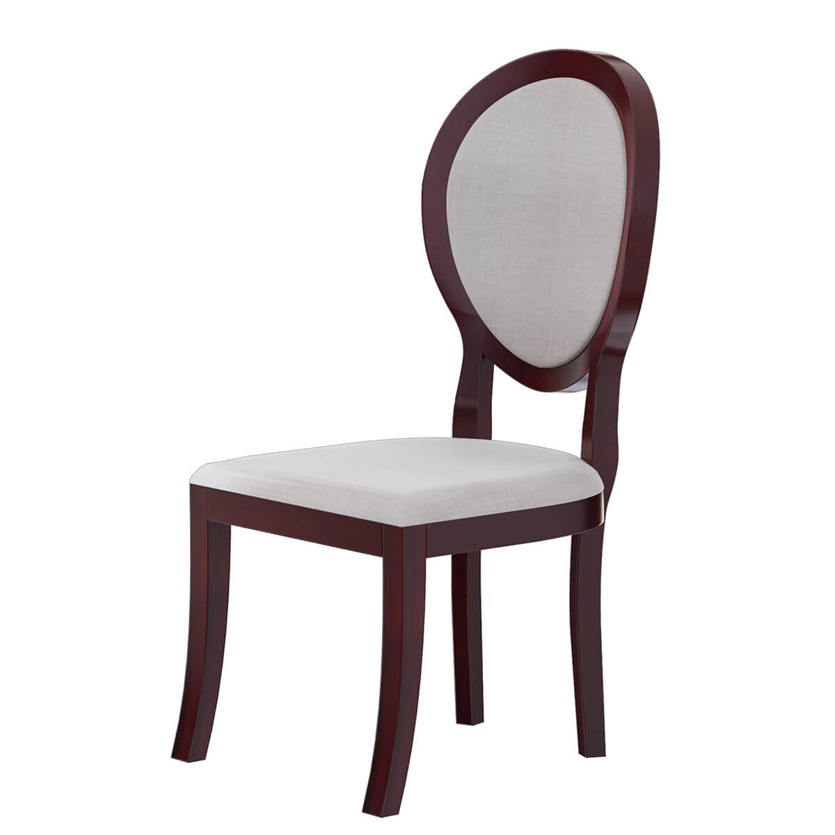 Aripeka Solid Mahogany Wood Upholstery Dining Chair