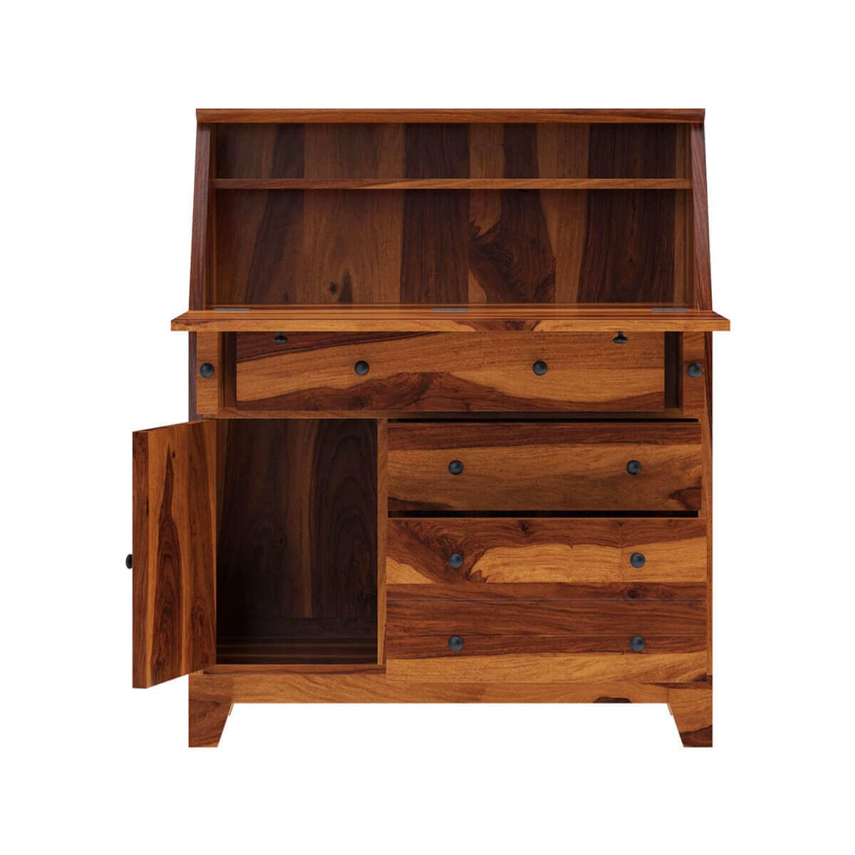 Cottondale Drop Front Rustic Solid Wood Home Office