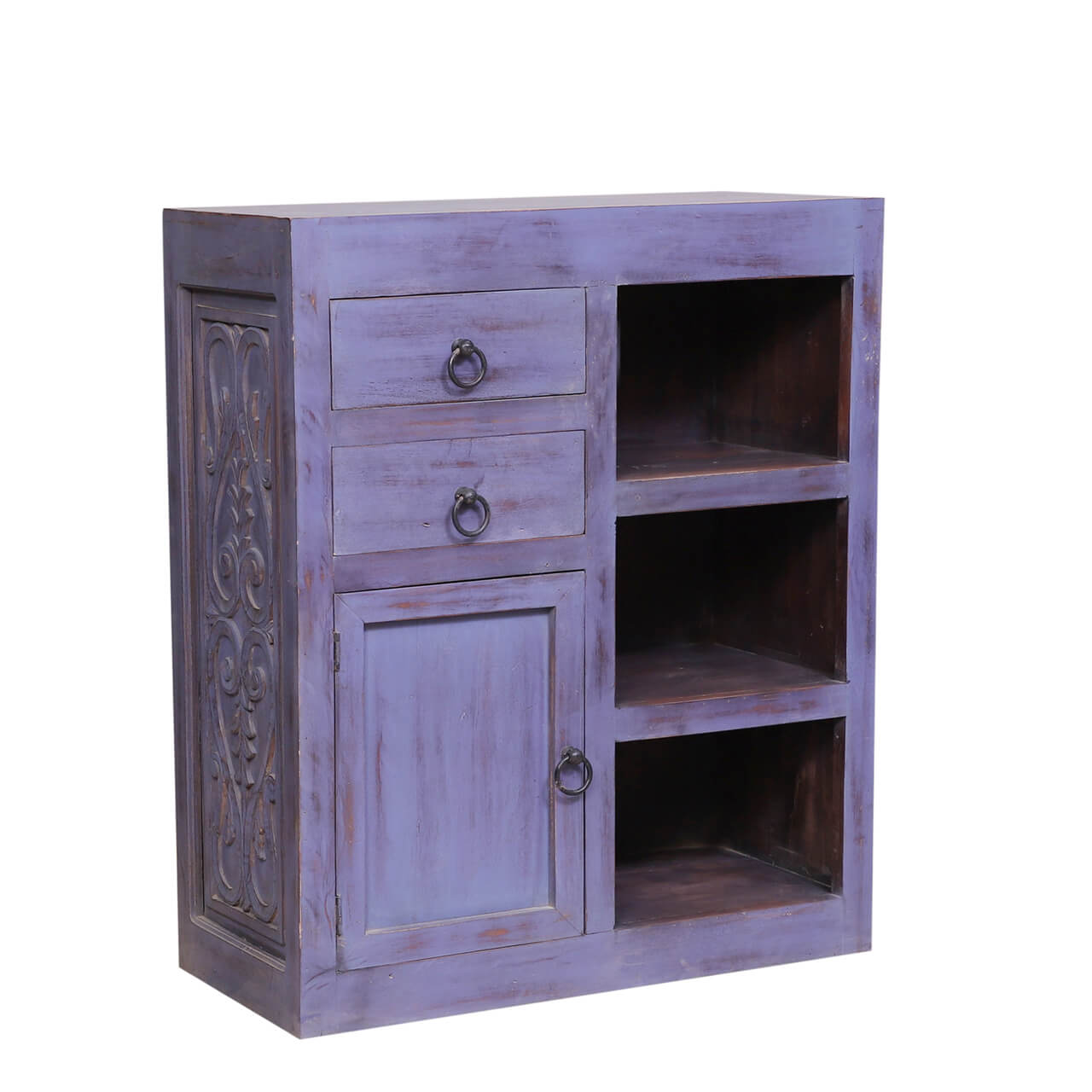 Vaughnsville Retro Reclaimed Wood 2 Drawer Buffet Cabinet