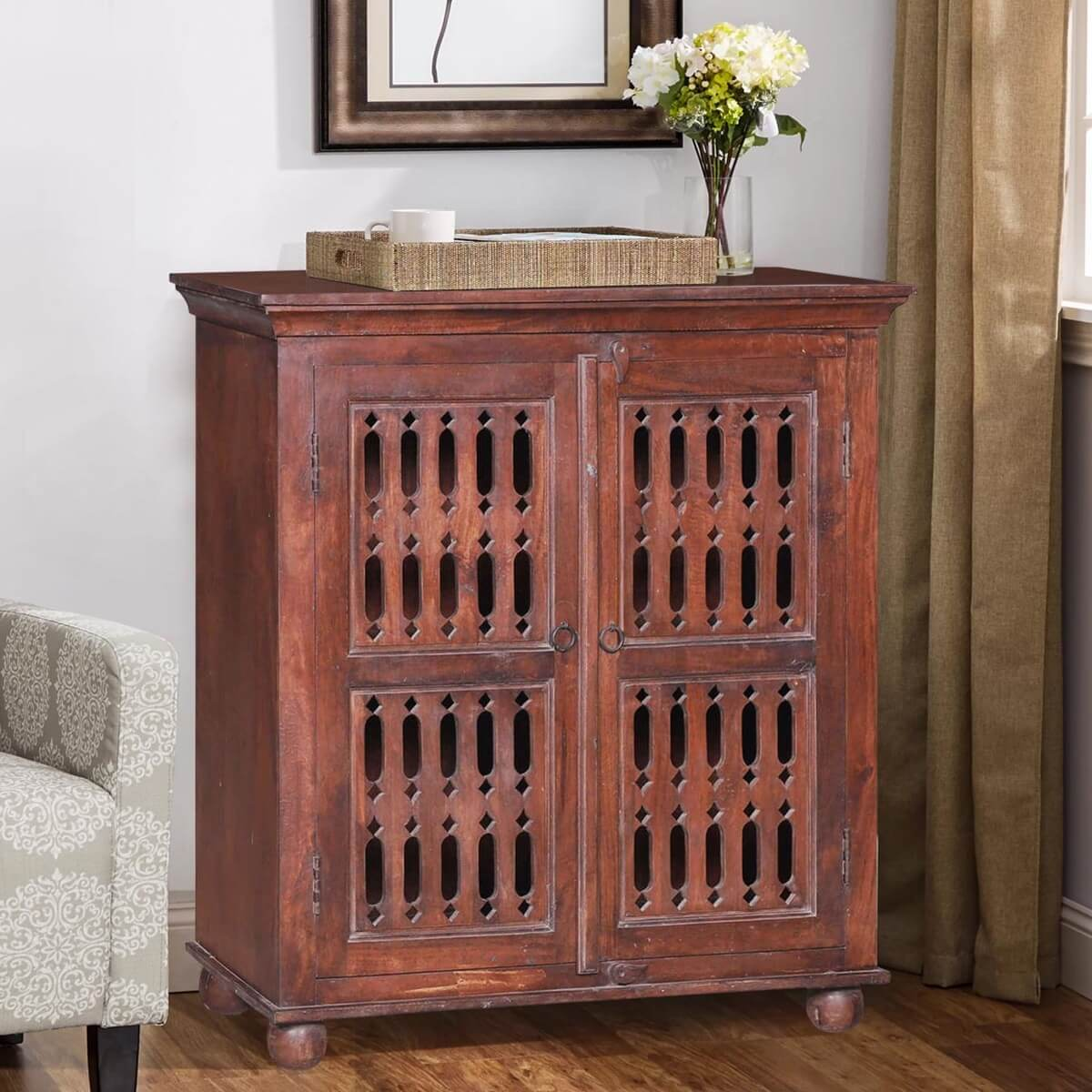 Arendtsville Rustic Reclaimed Wood Handcrafted Buffet Cabinet
