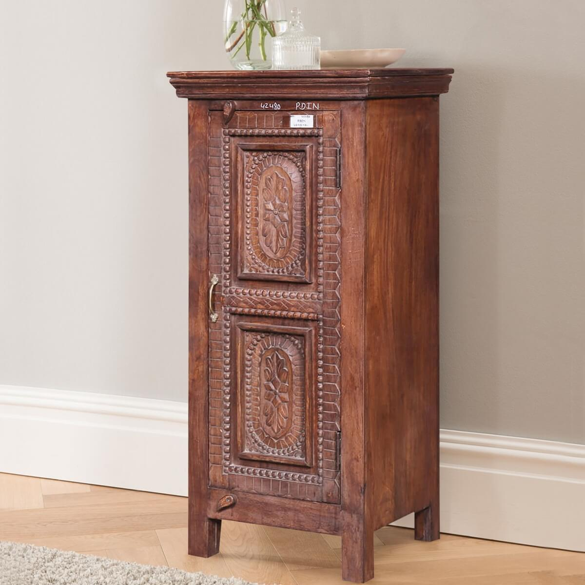 Sonora Handcrafted Reclaimed Wood Traditional Storage Cabinet