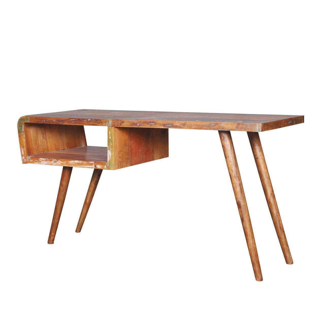 Peoa Rustic Reclaimed Wood Handcrafted Computer Desk