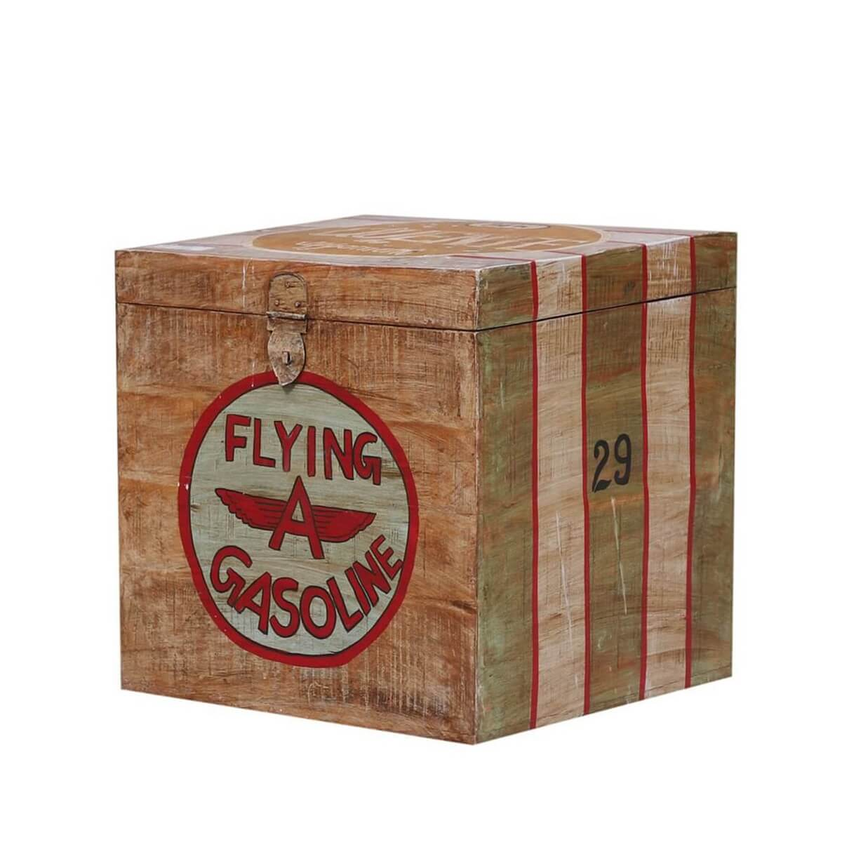 Aviator Reclaimed Wood Storage End Table Box