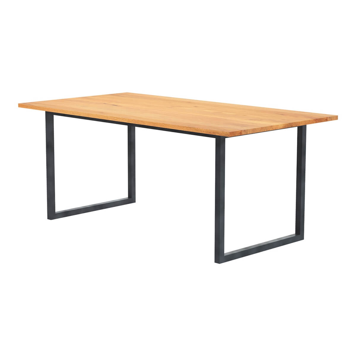 Karval Rustic Solid Wood Industrial Dining Table