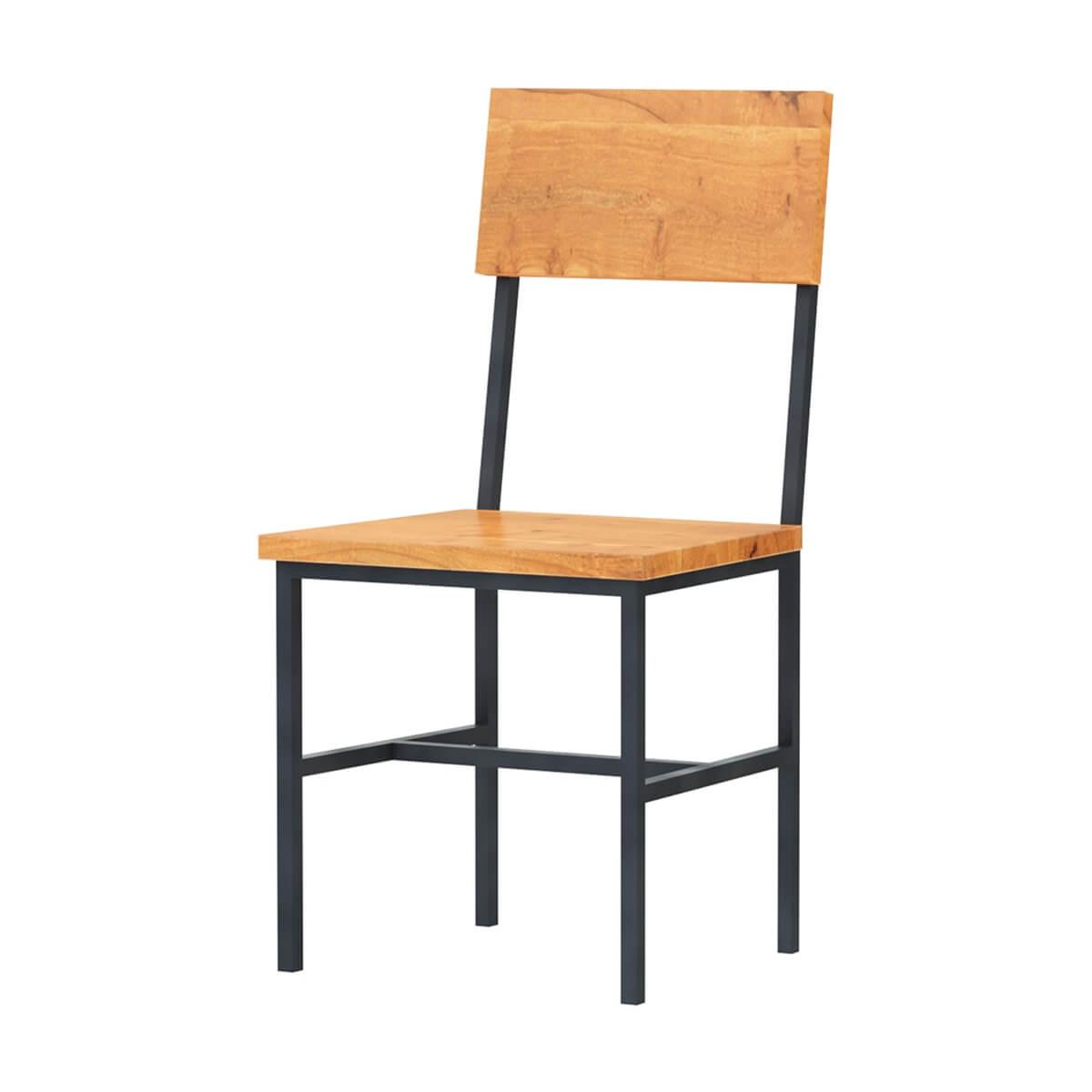 Karval Rustic Solid Wood Industrial Dining Chair