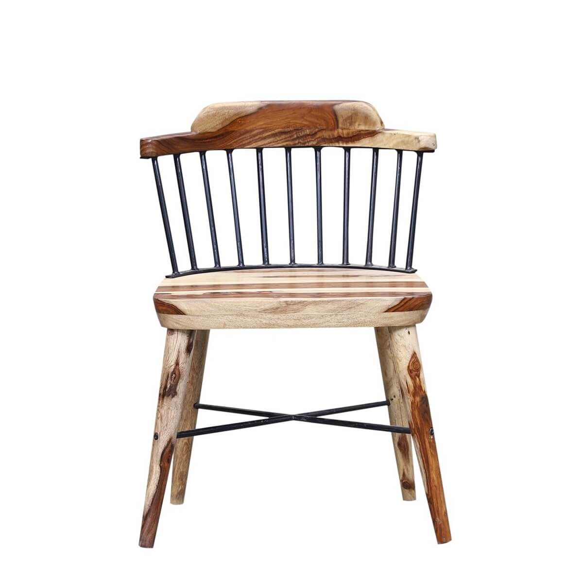 Ottinger Solid Wood Iron Back Seating Chair