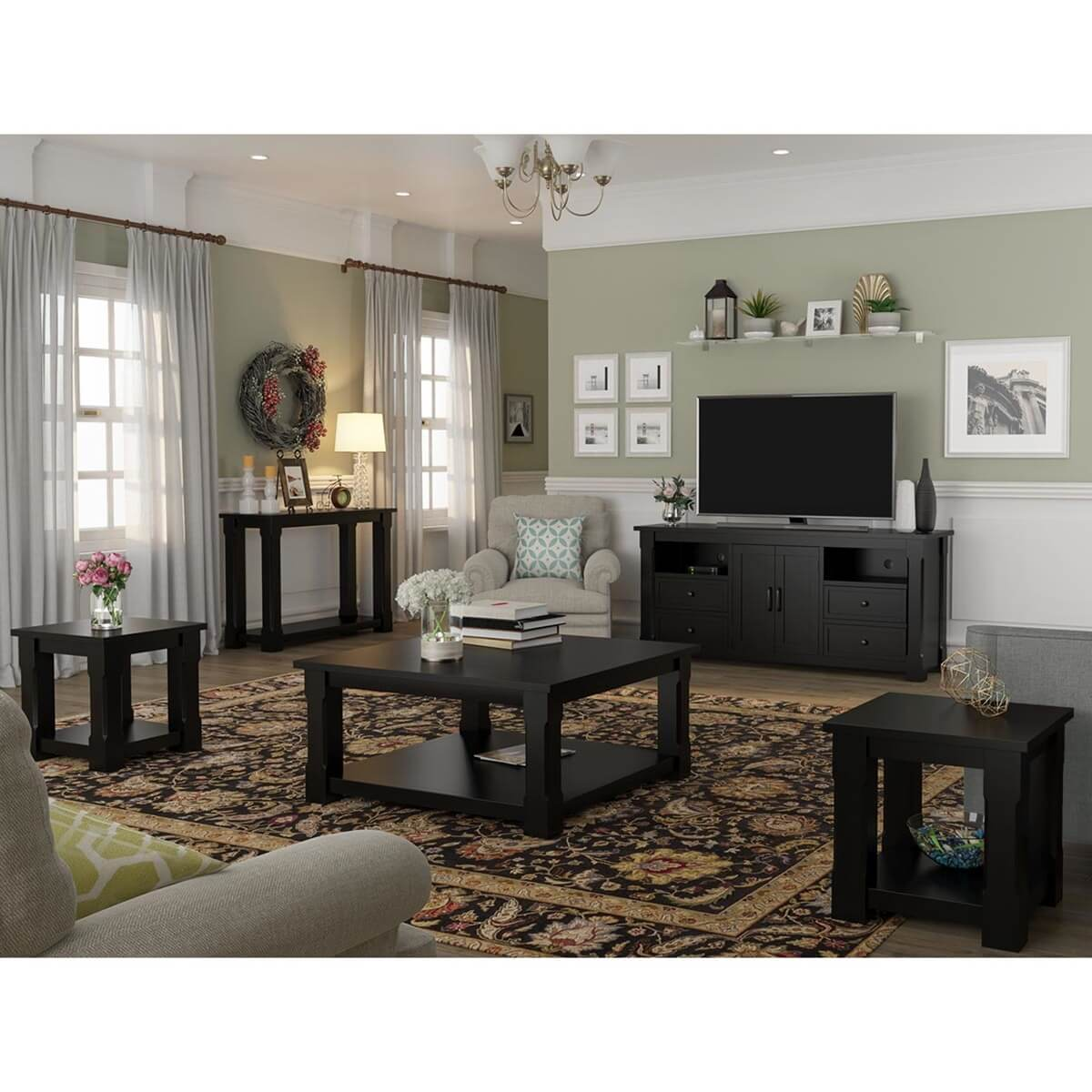 Brimson Contemporary Style 5 Piece Living Room Set