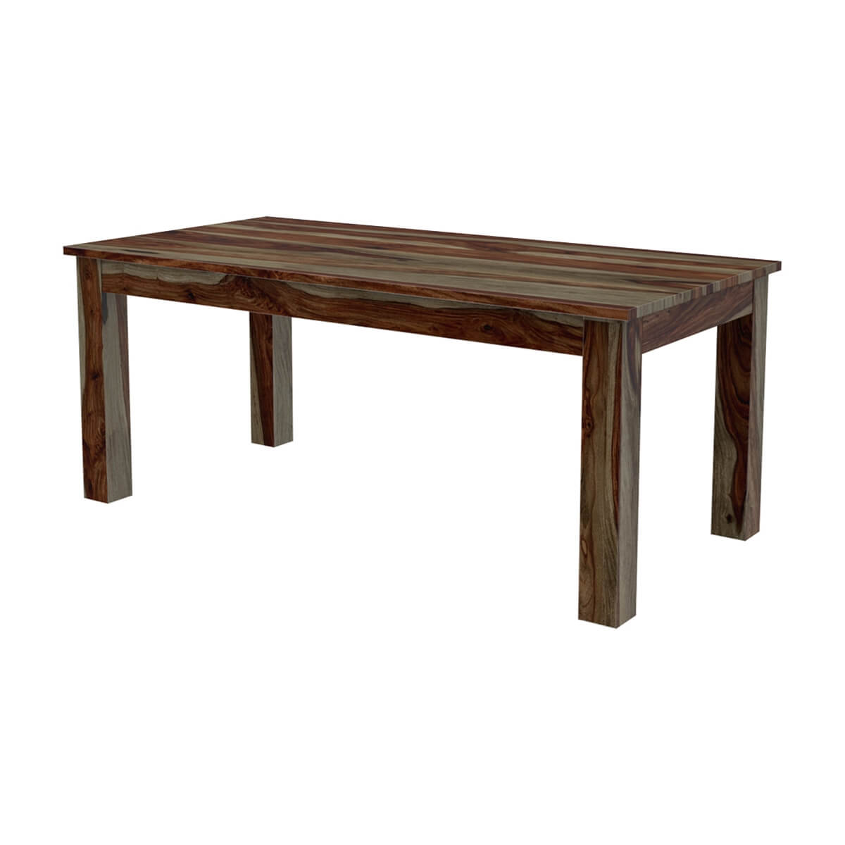 """Idaho Modern Rustic Solid Wood Dining Table Chair Set: Modern Rustic Sierra Solid Wood 72"""" Dining Table & Chair Set"""