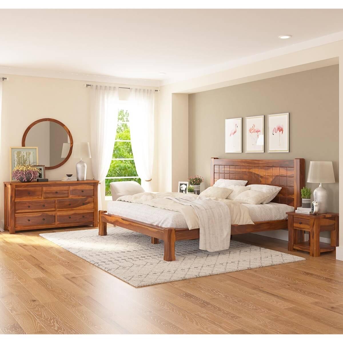 Laredo Solid Wood 4 Piece Bedroom Set