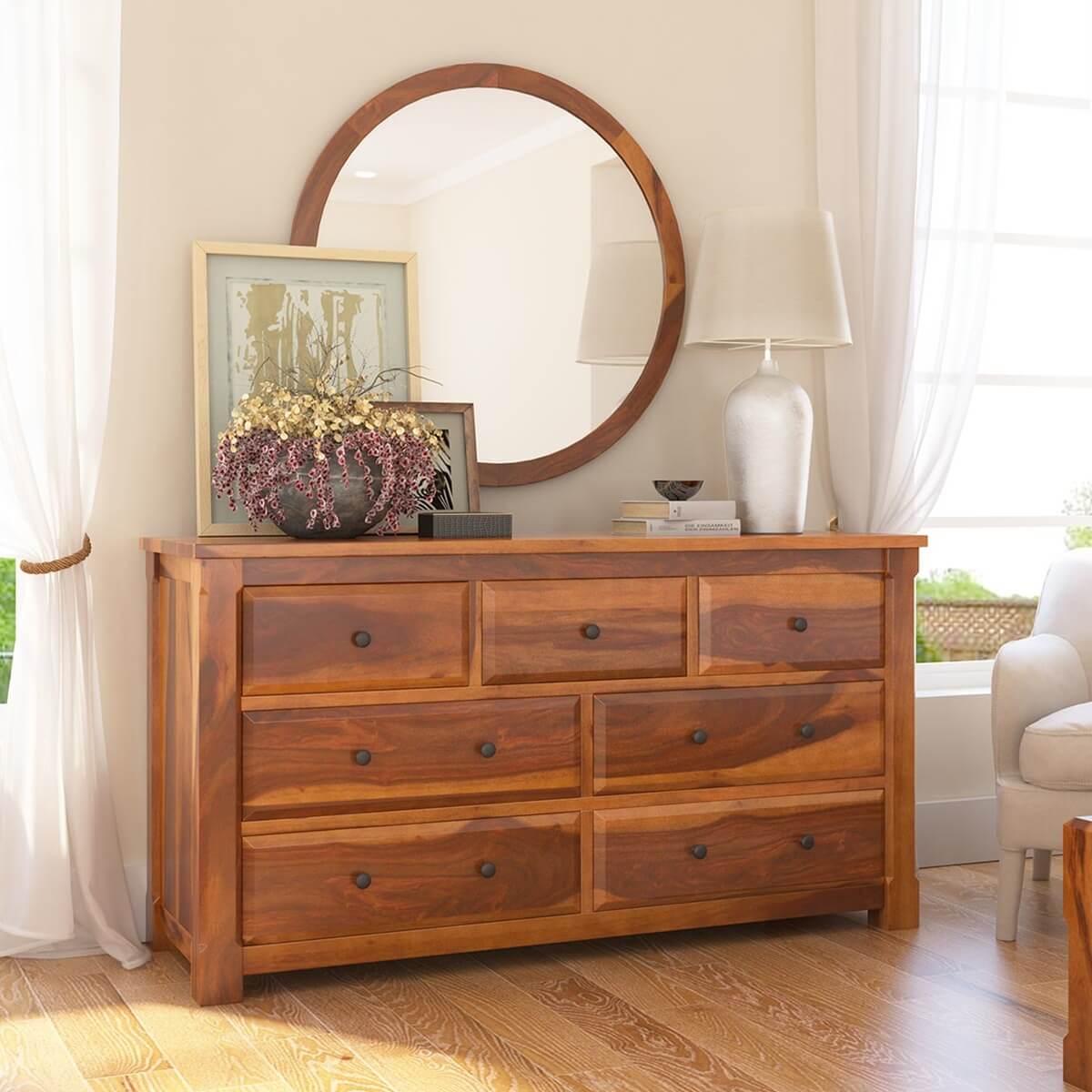 Laredo Solid Wood 7 Drawer Dresser