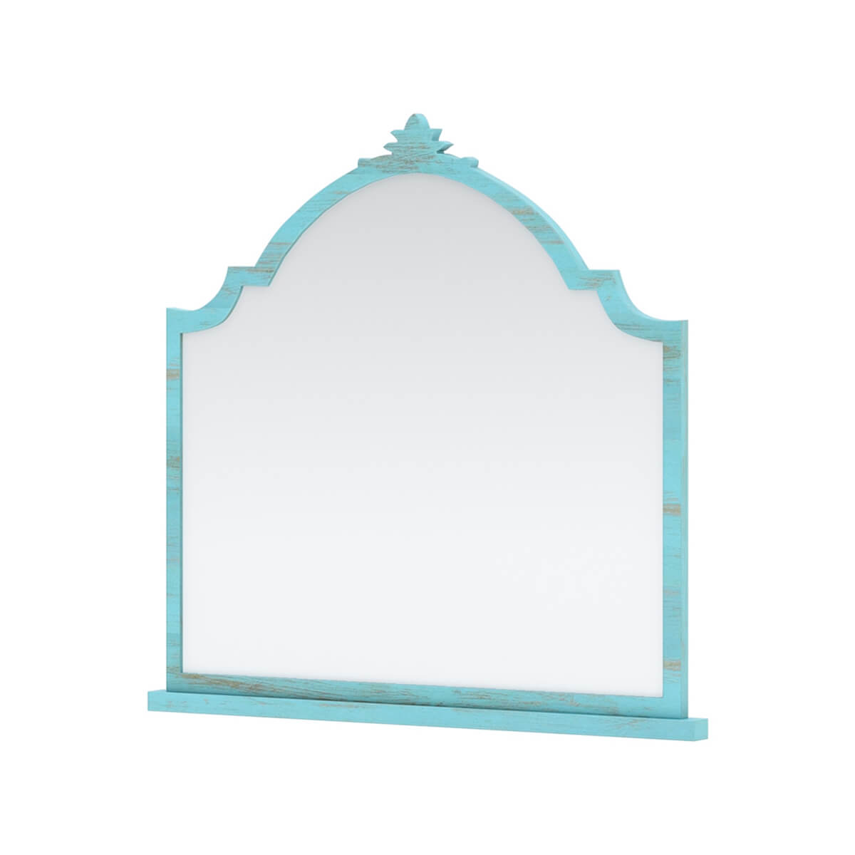 Victorian Mango Wood Turquoise Mirror Frame