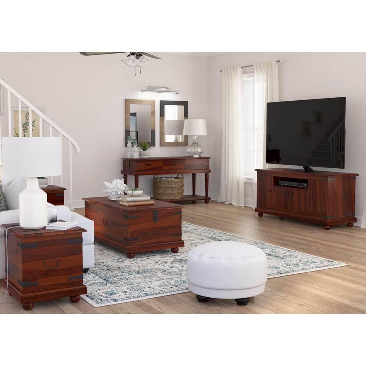 Kokanee Rustic Solid Wood Large 5 Piece Living Room Set