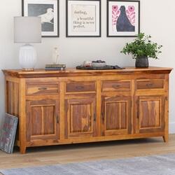 San Francisco Rustic Solid Wood Large Sideboard Cabinet