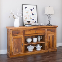 Appalachian Rustic Solid Wood Dining Room Large Sideboard Cabinet